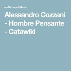 Alessandro Cozzani - Hombre Pensante - Catawiki