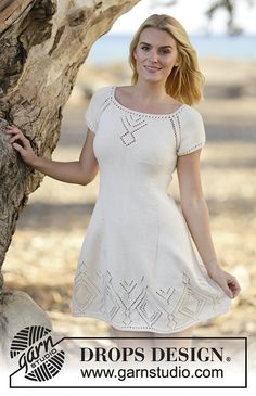 Summer Feeling Dress By DROPS Design - Free Knitted Pattern - (ravelry)