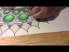 Gemstone coloring tutorial: prismacolor colored pencils - YouTube
