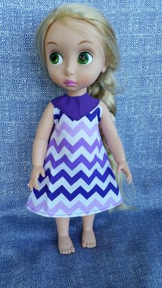 """Disney Animator's Collection 16"""" Doll  Purple Chevron A-line Dress by WiggleAndRoo on Etsy - Ready to Ship"""