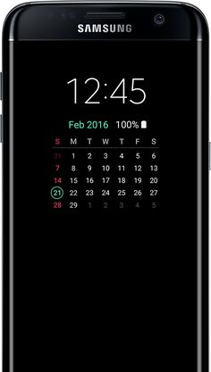 dd33fce962d Calendar type AOD on the galaxy s7 edge screen Galaxy S7, Smartphone,  Conocimiento,