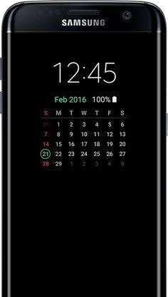 Calendar type AOD on the galaxy s7 edge screen