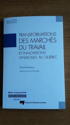 Transformations des marchés du travail et innovations syndicales au Québec (331.1209714 N784t)