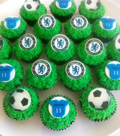 Chelsea Football Club Cupcakes.