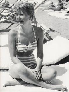 Doris Day in France, 1956.