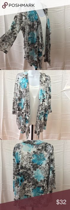 """NWOT🦋Beautiful Waterfall Cardigan🦋 Super Soft & Flattering Cotton-60% Polyester-40% Approximate Measurements- Bust-48"""" Length-29""""-33"""" Sag Harbor Tops"""