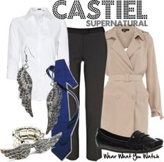 Inspired by Supernatural's Castiel played by Misha Collins.