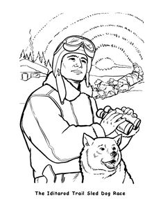 Dog Sled Coloring Page | Pinterest | Sled dogs, Crayons and Child