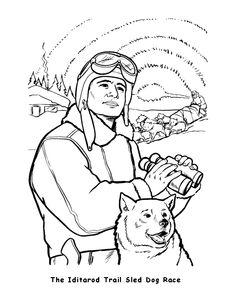 alaska iditarod race coloring page