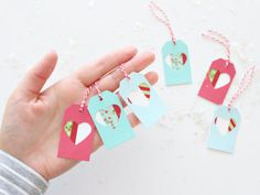 WASHI TAPE HOLIDAY TAGS OR PAPER ORNAMENTS