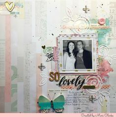 Mixed media layout featuring Maggie Holmes Chasing Dreams and Shimmerz products www.mariclarkecreations.wordpress.com
