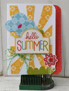 EP Hello Summer Cards - Scrapbook.com... intro to our Summer 2013 Summer scrapbook maybe...