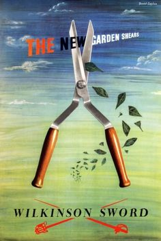 New Garden Shears Wilkinson Sword 1950s
