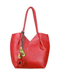 Trixie Vegan Leather Shoulder Bag by ESPE in Red  d678d1cfc4f5c