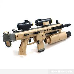 Bren Modular Assault Rifle - Lego Compatible Model