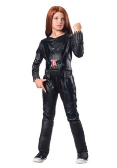 The Black Widow will have never been as wicked as when your girl wears the costume. Suit her up with this Child Deluxe Black Widow Costume!