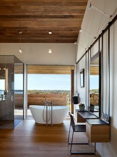 Genius Loci Luxurious House with beautiful landscape with bathroom design mid-century modern interior design photography Transitional living. Genius Loci, Modern Bathroom Design, Bathroom Interior Design, Bathroom Designs, Bathroom Ideas, Bathtub Designs, Modern Design, Bathroom Plans, Modern Bathrooms