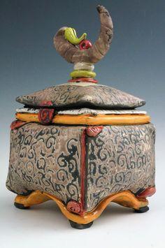 Ceramic Boxes, Ceramic Jars, Ceramic Decor, Ceramic Clay, Ceramic Painting, Slab Pottery, Thrown Pottery, Pottery Vase, Ceramic Pottery