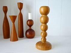 Dänischer Vintage Holz Kerzenhalter 50er 60er von ILoveSparrows auf DaWanda.com