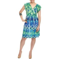 Miss Tina - Womens Sublimation Dress, Green