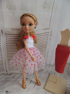 Top and 2 skirts for dolls Ever After High by Dress4bjd on Etsy