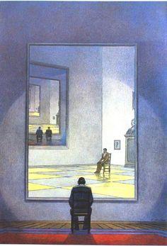 François Schuiten ~ The Mirror, 1985