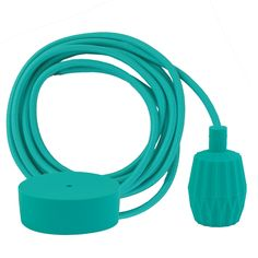 Turquoise braided cable 3 m. w/turquoise Plisse