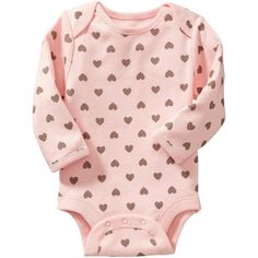 Old Navy Long Sleeve Bodysuits For Baby Size 0-3 M - Tiny hearts (250 RUB) ❤ liked on Polyvore featuring baby, baby girl, baby clothes, baby stuff и kids