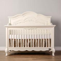 Evolur Aurora 5-in-1 Convertible Crib in Akoya Grey Pearl - Convertible Cribs - CRIBS