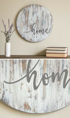 Home Sign - Fixer Upper Style - Farmhouse Sign - Rustic Home Decor - Housewarming Gift - Farmhouse Decor - Wooden Sign - Rustic Wood Sign #affiliate #housewarminggifts