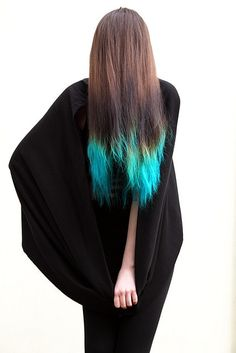 This is close to the color of blue I was considering dying a streak of my hair with.