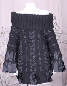 Christian Dior Ribbon Laced Fisherman's Sweater image 4