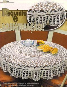 Crochet Dollies, Crochet Hats, Doily Patterns, Crochet Patterns, Crochet Russe, Mantel Redondo, Crochet Tablecloth Pattern, Crochet Circles, Crochet Snowflakes
