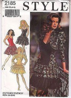 Salsa Dress Bolero Evening Party Dance Style Sewing Pattern Sizes 6-16 Uncut