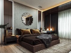 36 Elegant Luxury Bedroom Design Ideas - A number of interior designers have had successes from previous designs that capture the plain white room into something that can distract an owner de. Wardrobe Design Bedroom, Master Bedroom Interior, Luxury Bedroom Design, Room Design Bedroom, Modern Master Bedroom, Bedroom Furniture Design, Home Interior, Home Decor Bedroom, Interior Design