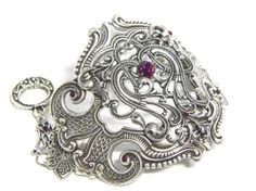 Hey, I found this really awesome Etsy listing at https://www.etsy.com/listing/168604355/silver-filigree-cuff-bracelet-art