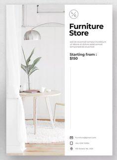 Furniture Flyer by Justicon on Envato Elements Page Layout Design, Web Design, Flyer Design, Interior Design Magazine, Magazine Design, Layout Inspiration, Graphic Design Inspiration, Feeds Instagram, Furniture Catalog