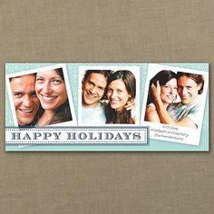 Happy Holiday - Photo Holiday Card - Aqua   |  40% OFF  |  http://mediaplus.carlsoncraft.com/Holiday/Photo-Cards/YM-YM13460FCAB-Happy-Holiday--Photo-Holiday-Card--Aqua.pro