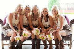 Cute bridesmaids dresses for a simple, southern wedding :)