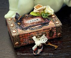 Scrapperlicious: Dream Altered Box by Irene Tan using products by Tim Holtz idea-ology, Ranger Inks