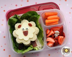 I need to get into this bento box thing- then maybe my daughter would touch a vegetable