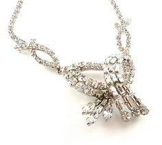 Made in Austria Necklace Vintage Rhinestone Jewelry by kiamichi7, $55.00