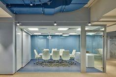 Meeting room. Blue.