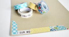 Love the idea of a washi tape frame! Double Washi Tape Frame Tutorial by Wendy Sue Anderson @ shimelle.com