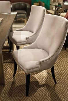 Sarah Dining Chair - Precedent  Dwell Studio  Features   •2594-DI Infinesse Pl  •W: 23 D: 28.5 H:39.5  $660