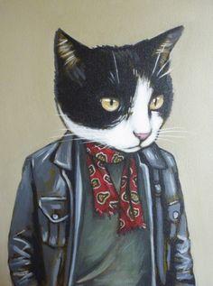 """Mooch"" Custom Portrait by Heather Mattoon"
