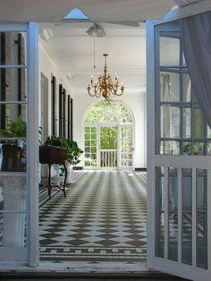 Southern Porch, pretty floor