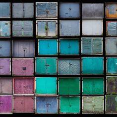 Lithuanian artist Agne Gintalaite photographs garage doors #abstract #doors #color #lithuania #design #art #fineart #love