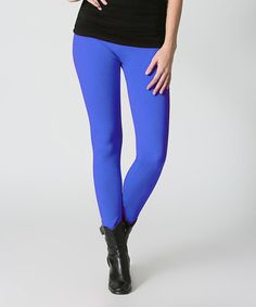 Another great find on #zulily! Royal Blue Seamless Leggings #zulilyfinds