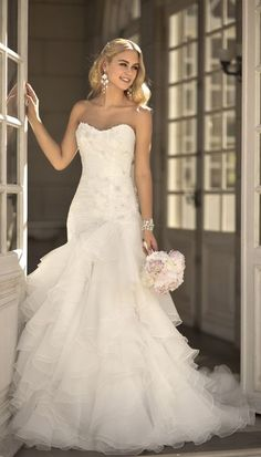 Designer sweetheart neckline wedding dress